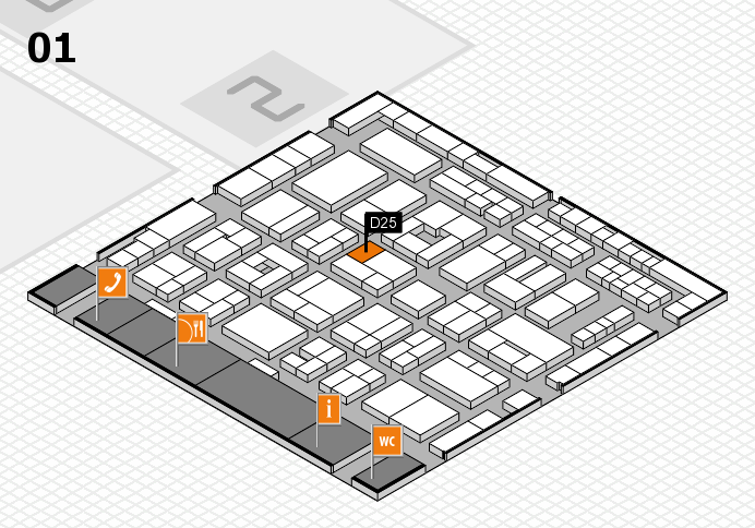 MEDICA 2016 hall map (Hall 1): stand D25