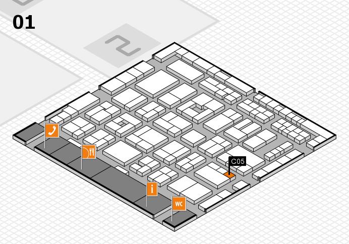 MEDICA 2016 hall map (Hall 1): stand C05