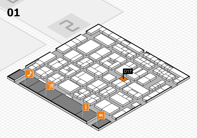 MEDICA 2016 hall map (Hall 1): stand D17