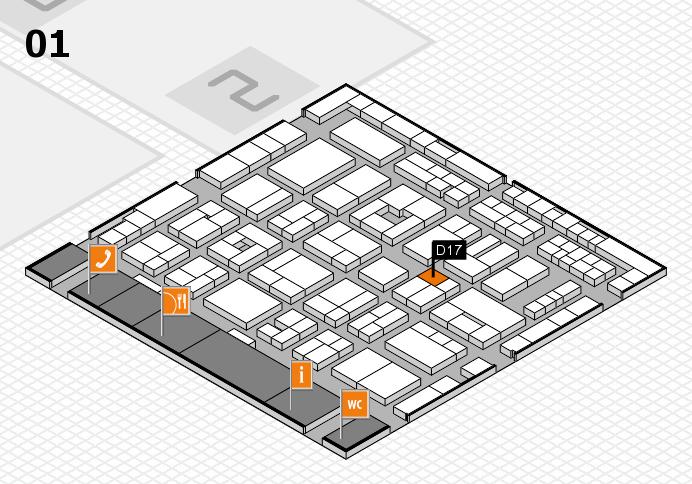MEDICA 2016 hall map (Hall 1): stand D17