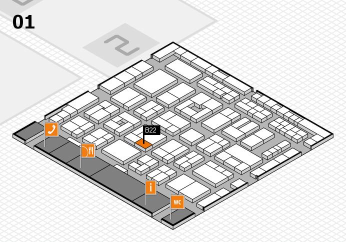 MEDICA 2016 hall map (Hall 1): stand B22