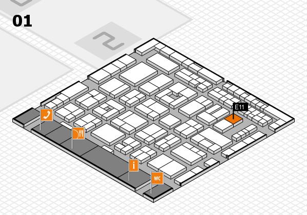 MEDICA 2016 Hallenplan (Halle 1): Stand E11