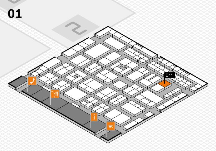 MEDICA 2016 hall map (Hall 1): stand E11