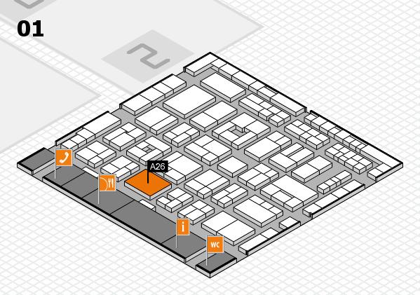 MEDICA 2016 Hallenplan (Halle 1): Stand A26
