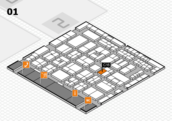 MEDICA 2016 Hallenplan (Halle 1): Stand C16