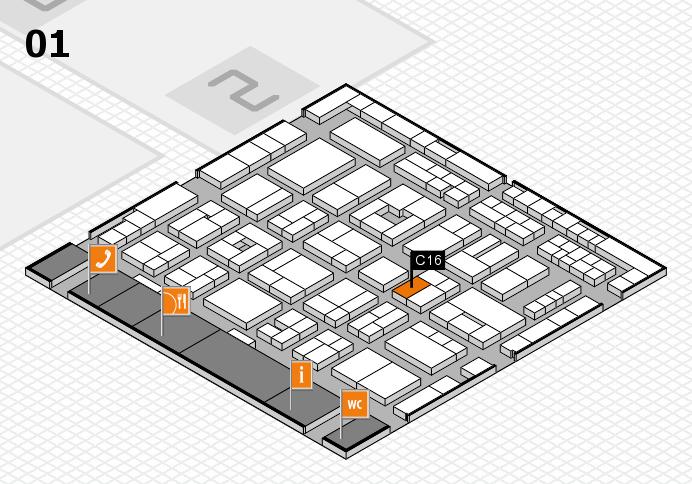 MEDICA 2016 hall map (Hall 1): stand C16