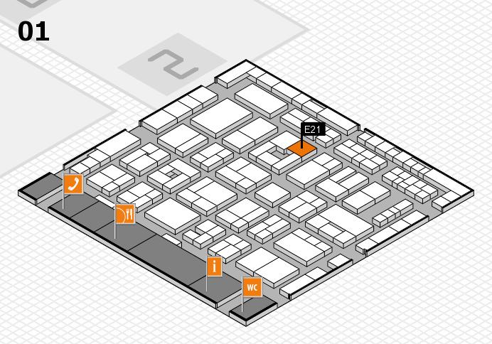 MEDICA 2016 hall map (Hall 1): stand E21