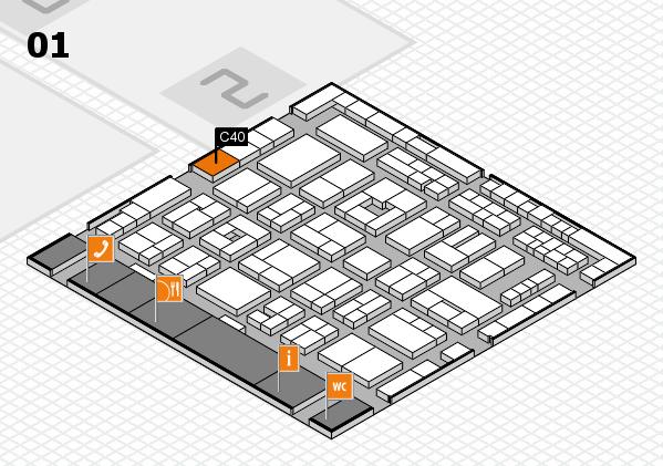 MEDICA 2016 hall map (Hall 1): stand C40