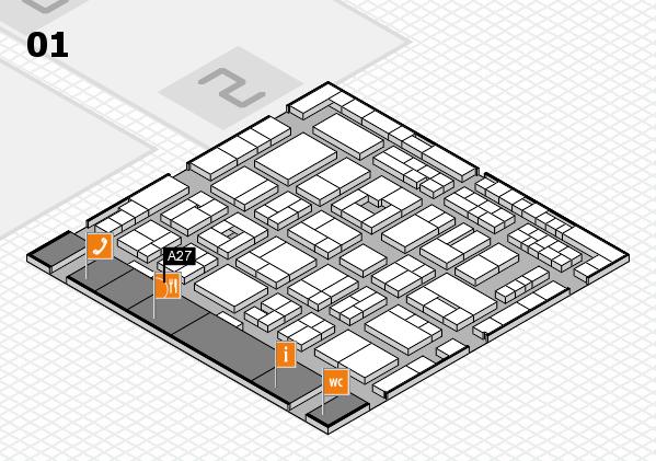 MEDICA 2016 hall map (Hall 1): stand A27