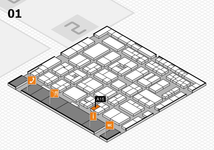 MEDICA 2016 Hallenplan (Halle 1): Stand A16