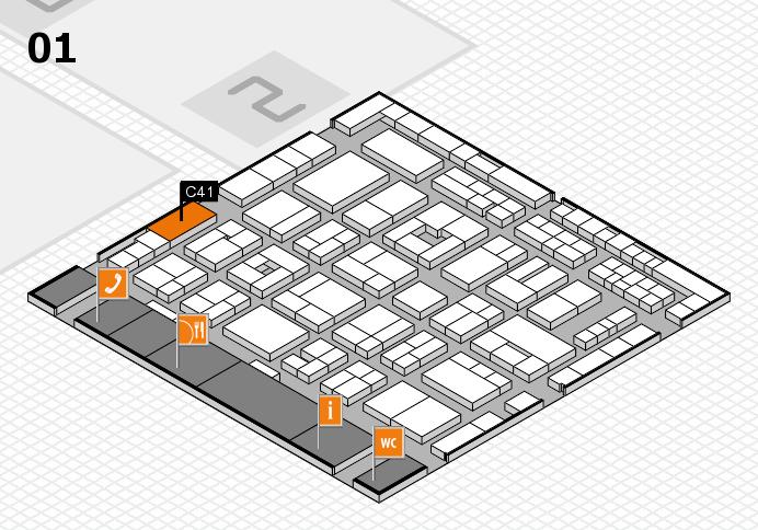 MEDICA 2016 hall map (Hall 1): stand C41
