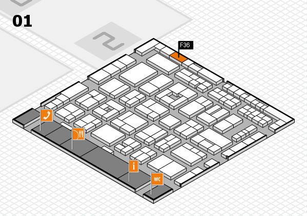 MEDICA 2016 hall map (Hall 1): stand F36