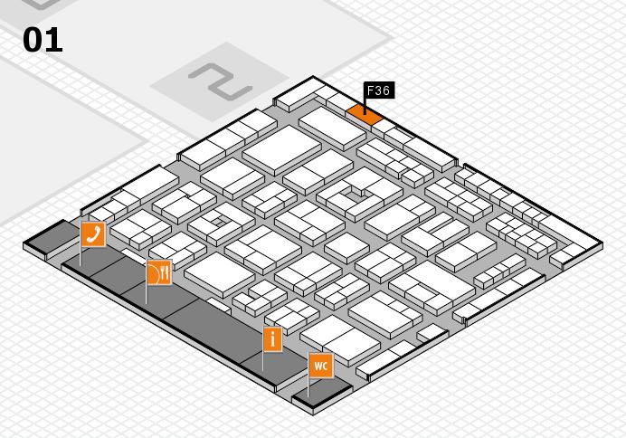 MEDICA 2016 Hallenplan (Halle 1): Stand F36