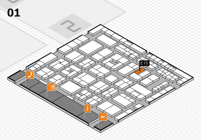 MEDICA 2016 hall map (Hall 1): stand E15