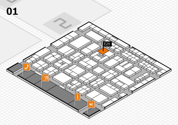 MEDICA 2016 hall map (Hall 1): stand E25