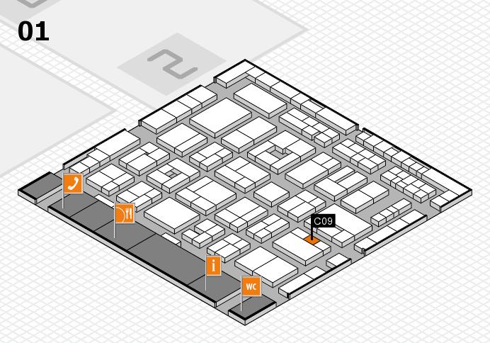 MEDICA 2016 hall map (Hall 1): stand C09