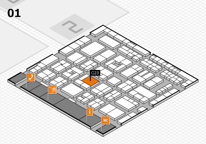 MEDICA 2016 hall map (Hall 1): stand C23