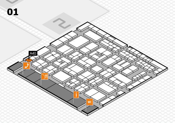 MEDICA 2016 Hallenplan (Halle 1): Stand A40