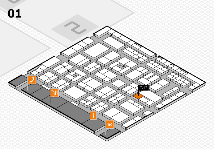 MEDICA 2016 hall map (Hall 1): stand C12
