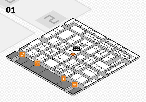 MEDICA 2016 Hallenplan (Halle 1): Stand C22
