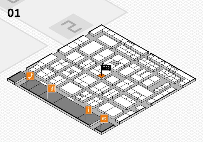 MEDICA 2016 hall map (Hall 1): stand C22