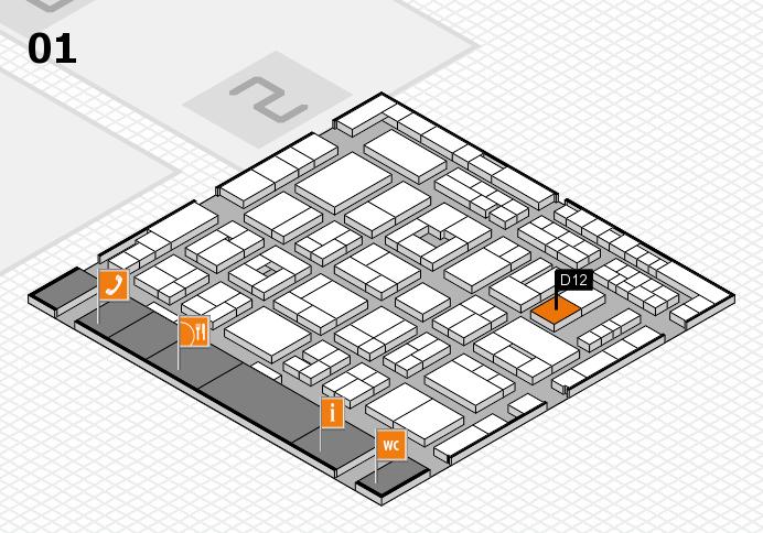 MEDICA 2016 hall map (Hall 1): stand D12