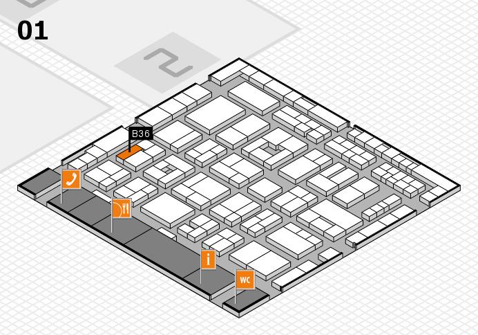 MEDICA 2016 hall map (Hall 1): stand B36