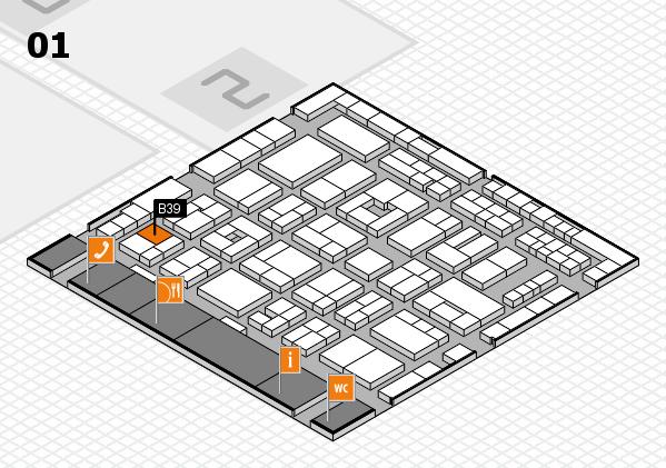 MEDICA 2016 hall map (Hall 1): stand B39