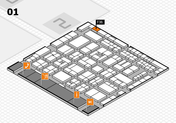 MEDICA 2016 hall map (Hall 1): stand F38