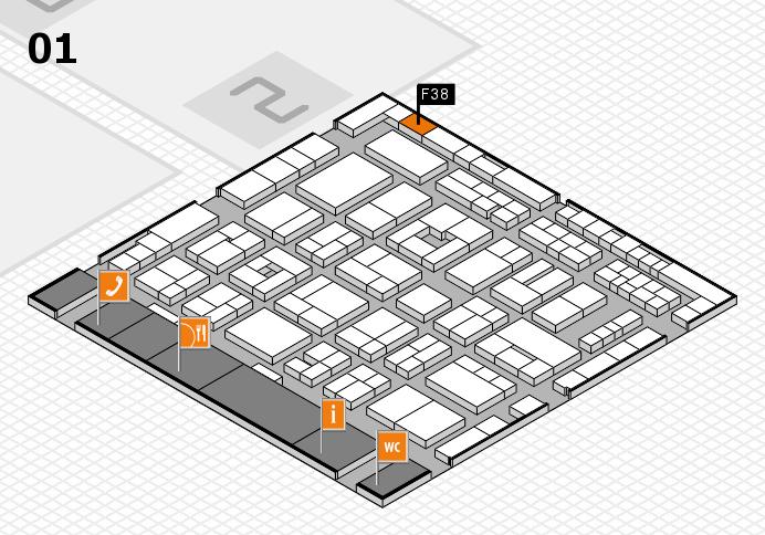 MEDICA 2016 Hallenplan (Halle 1): Stand F38
