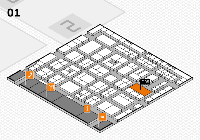 MEDICA 2016 hall map (Hall 1): stand D05