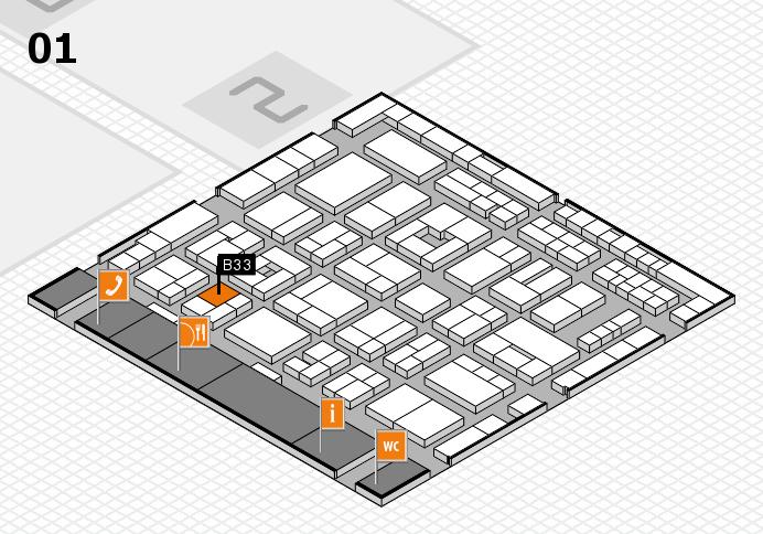 MEDICA 2016 hall map (Hall 1): stand B33