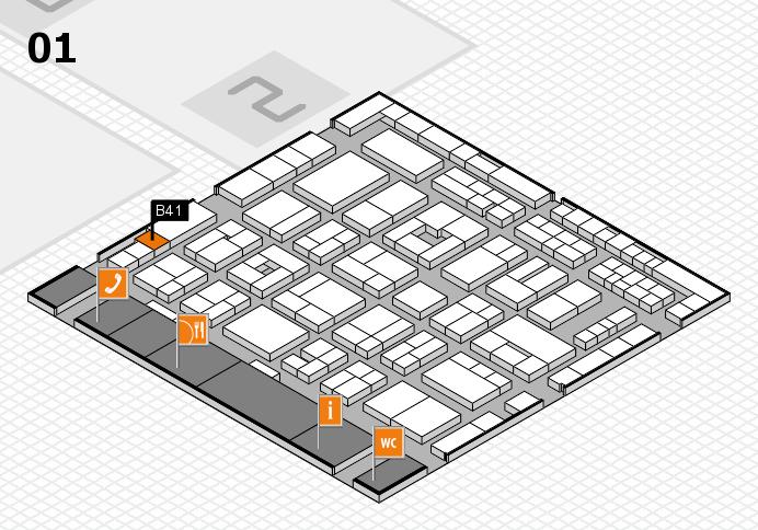 MEDICA 2016 hall map (Hall 1): stand B41