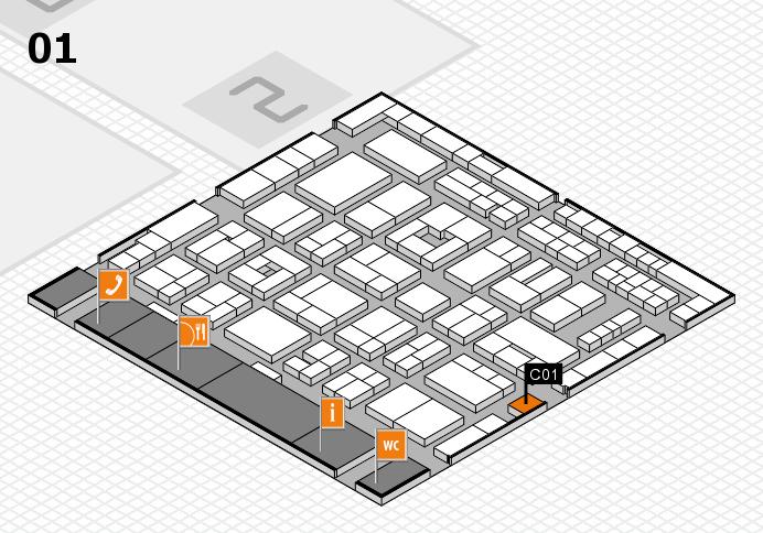 MEDICA 2016 Hallenplan (Halle 1): Stand C01
