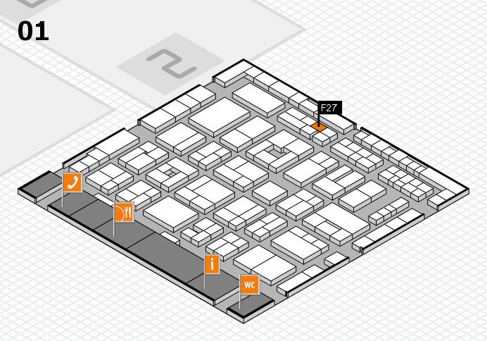 MEDICA 2016 hall map (Hall 1): stand F27