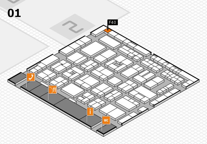 MEDICA 2016 hall map (Hall 1): stand F40