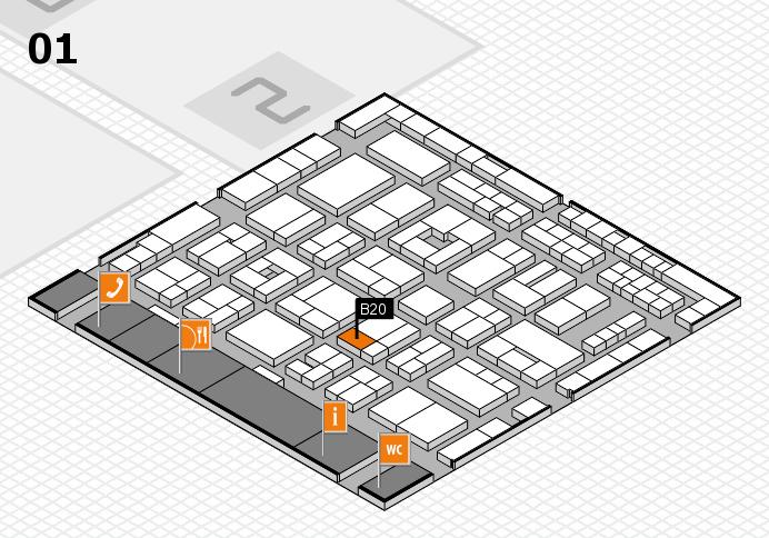 MEDICA 2016 hall map (Hall 1): stand B20