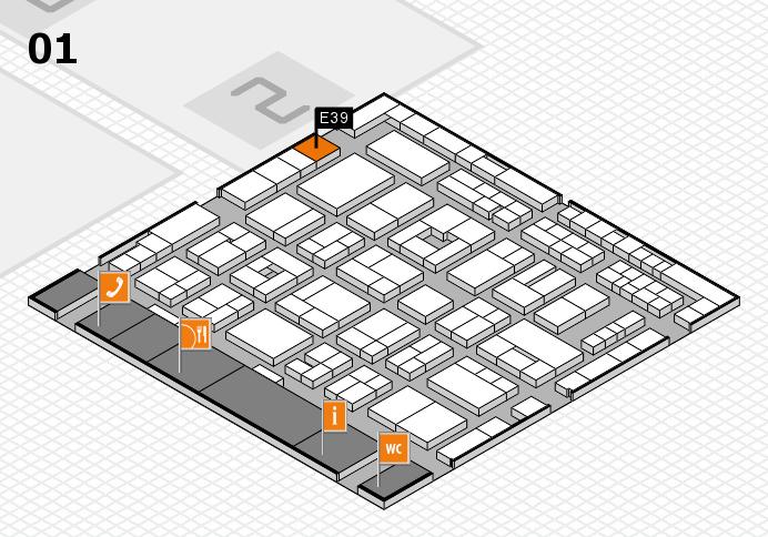MEDICA 2016 hall map (Hall 1): stand E39