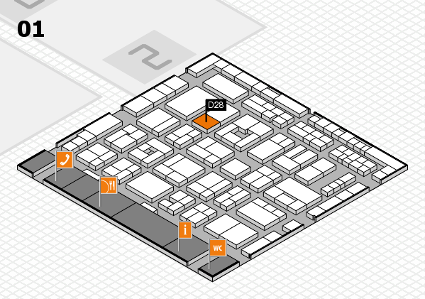 MEDICA 2016 hall map (Hall 1): stand D28