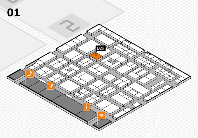 MEDICA 2016 hall map (Hall 1): stand D28