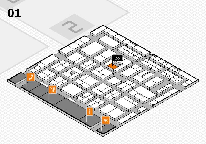 MEDICA 2016 hall map (Hall 1): stand D22