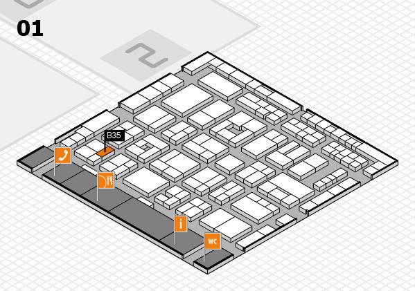 MEDICA 2016 hall map (Hall 1): stand B35