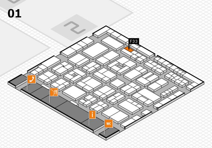 MEDICA 2016 hall map (Hall 1): stand F33