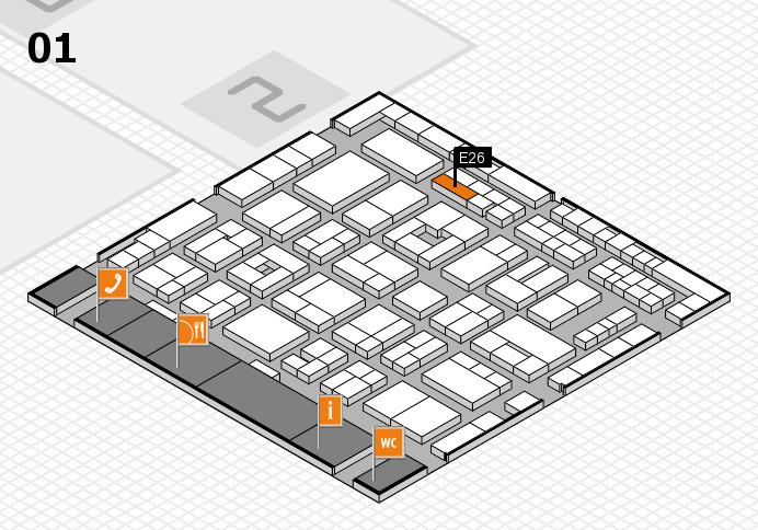 MEDICA 2016 hall map (Hall 1): stand E26
