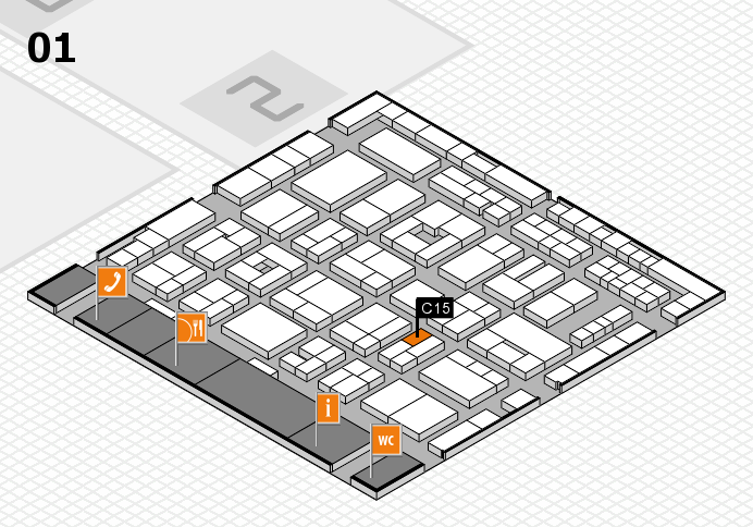 MEDICA 2016 hall map (Hall 1): stand C15