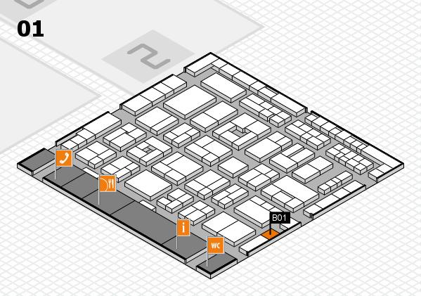 MEDICA 2016 hall map (Hall 1): stand B01