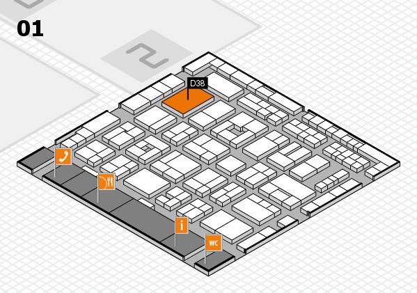 MEDICA 2016 hall map (Hall 1): stand D38