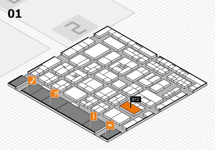 MEDICA 2016 Hallenplan (Halle 1): Stand B12