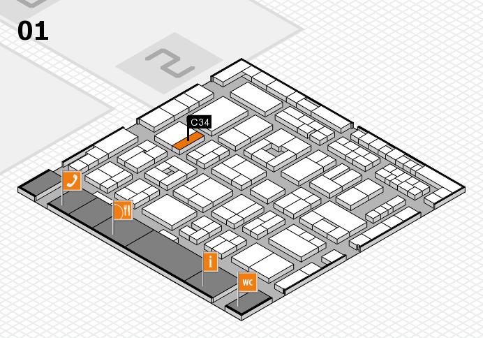 MEDICA 2016 hall map (Hall 1): stand C34