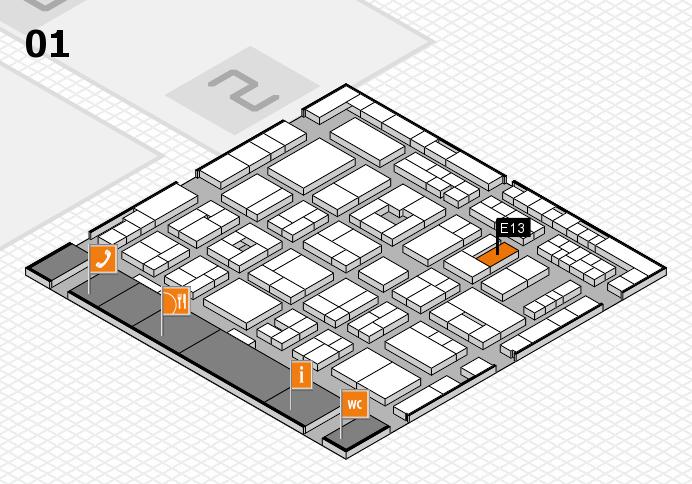 MEDICA 2016 hall map (Hall 1): stand E13